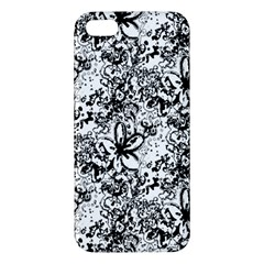 Flower Lace Iphone 5s Premium Hardshell Case