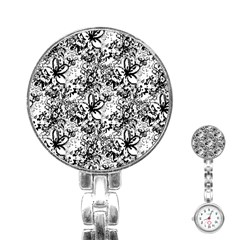 Flower Lace Stainless Steel Nurses Watch