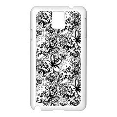 Flower Lace Samsung Galaxy Note 3 N9005 Case (White)