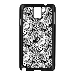 Flower Lace Samsung Galaxy Note 3 N9005 Case (Black)