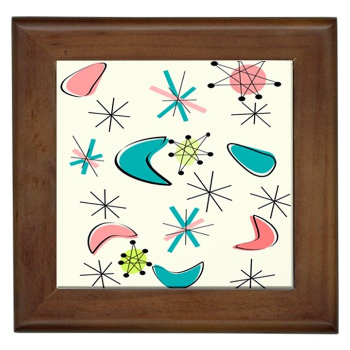 Atomic Era Inspired Framed Tile