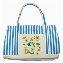 Atomic Era Inspired Striped Blue Tote Bag