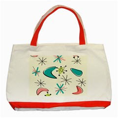 Atomic Era Inspired Classic Tote Bag (Red)