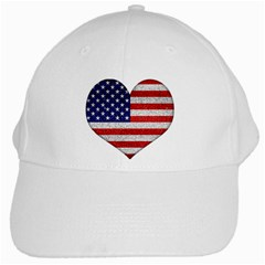 Grunge Heart Shape G8 Flags White Baseball Cap