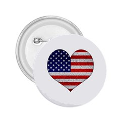 Grunge Heart Shape G8 Flags 2.25  Button