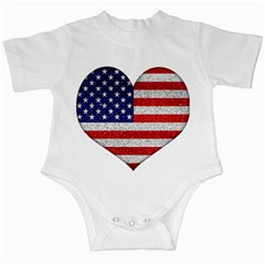 Grunge Heart Shape G8 Flags Infant Bodysuit