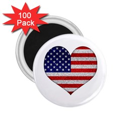 Grunge Heart Shape G8 Flags 2.25  Button Magnet (100 pack)