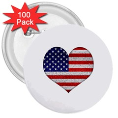 Grunge Heart Shape G8 Flags 3  Button (100 pack)
