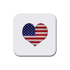 Grunge Heart Shape G8 Flags Drink Coasters 4 Pack (Square)