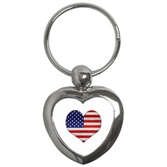 Grunge Heart Shape G8 Flags Key Chain (Heart)