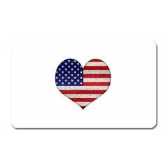 Grunge Heart Shape G8 Flags Magnet (rectangular)