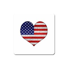 Grunge Heart Shape G8 Flags Magnet (Square)