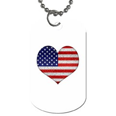 Grunge Heart Shape G8 Flags Dog Tag (One Sided)