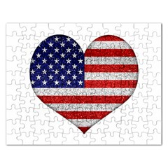 Grunge Heart Shape G8 Flags Jigsaw Puzzle (rectangle)