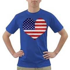 Grunge Heart Shape G8 Flags Men s T-shirt (Colored)