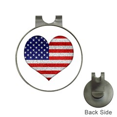 Grunge Heart Shape G8 Flags Hat Clip with Golf Ball Marker