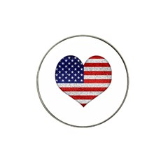 Grunge Heart Shape G8 Flags Golf Ball Marker (for Hat Clip)