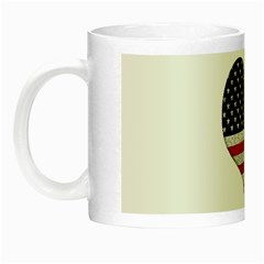 Grunge Heart Shape G8 Flags Glow In The Dark Mug