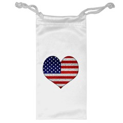 Grunge Heart Shape G8 Flags Jewelry Bag