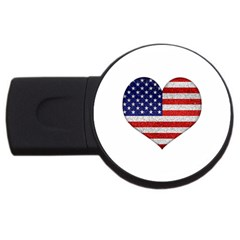 Grunge Heart Shape G8 Flags 4GB USB Flash Drive (Round)