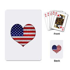 Grunge Heart Shape G8 Flags Playing Cards Single Design