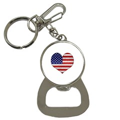 Grunge Heart Shape G8 Flags Bottle Opener Key Chain