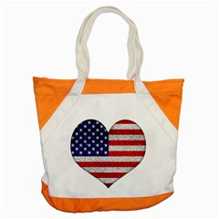 Grunge Heart Shape G8 Flags Accent Tote Bag