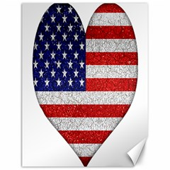 Grunge Heart Shape G8 Flags Canvas 12  x 16  (Unframed)