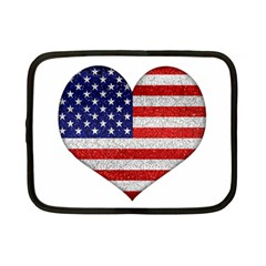 Grunge Heart Shape G8 Flags Netbook Sleeve (small)