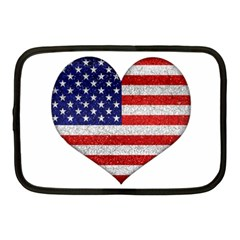 Grunge Heart Shape G8 Flags Netbook Sleeve (medium)
