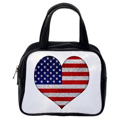 Grunge Heart Shape G8 Flags Classic Handbag (One Side)