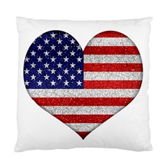 Grunge Heart Shape G8 Flags Cushion Case (Two Sided)
