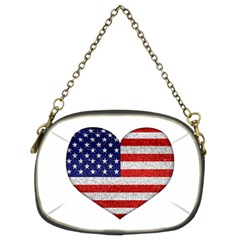 Grunge Heart Shape G8 Flags Chain Purse (Two Sided)