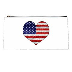 Grunge Heart Shape G8 Flags Pencil Case