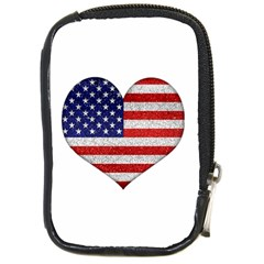 Grunge Heart Shape G8 Flags Compact Camera Leather Case
