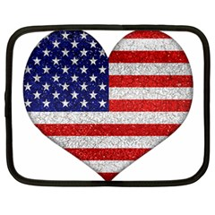 Grunge Heart Shape G8 Flags Netbook Sleeve (XXL)