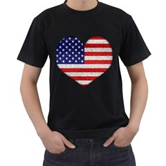 Grunge Heart Shape G8 Flags Men s T-shirt (Black)