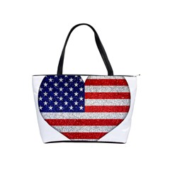 Grunge Heart Shape G8 Flags Large Shoulder Bag