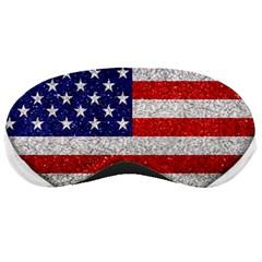 Grunge Heart Shape G8 Flags Sleeping Mask
