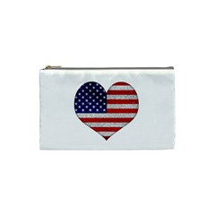 Grunge Heart Shape G8 Flags Cosmetic Bag (Small)