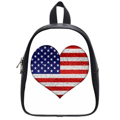 Grunge Heart Shape G8 Flags School Bag (small)