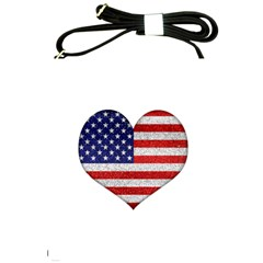 Grunge Heart Shape G8 Flags Shoulder Sling Bag