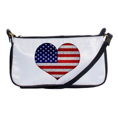 Grunge Heart Shape G8 Flags Evening Bag
