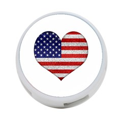 Grunge Heart Shape G8 Flags 4-Port USB Hub (Two Sides)