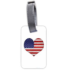Grunge Heart Shape G8 Flags Luggage Tag (one Side)