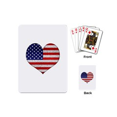Grunge Heart Shape G8 Flags Playing Cards (Mini)