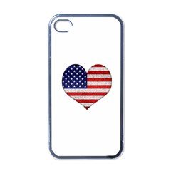 Grunge Heart Shape G8 Flags Apple iPhone 4 Case (Black)