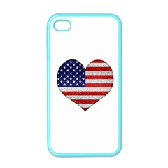Grunge Heart Shape G8 Flags Apple iPhone 4 Case (Color)