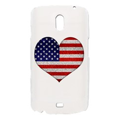 Grunge Heart Shape G8 Flags Samsung Galaxy Nexus i9250 Hardshell Case