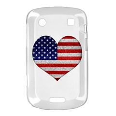 Grunge Heart Shape G8 Flags BlackBerry Bold Touch 9900 9930 Hardshell Case